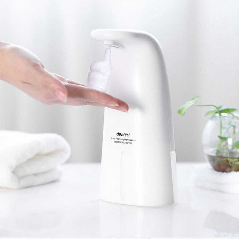 White Precise Infrared Sensor Touchless hand Soap Dispenser