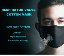 Load image into Gallery viewer, 100% Anti Dust Pure Cotton Respirator One  Valve KN95 Face Mask