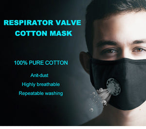 100% Anti Dust Pure Cotton Respirator One  Valve KN95 Face Mask