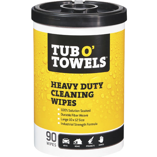 Tub O Towels Large Heavy Duty Durable Fiber Weave Cleaning Wipes