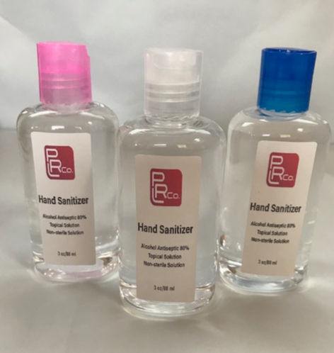 80% Alcohol Hand Sanitizer 3 oz