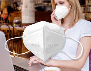 White Disposable KN95 Facemask for Efficient Filtration - from PRLCo