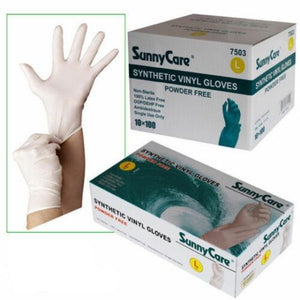 White Synthetic Disposable Vinyl Gloves-100% latex,DOP/DEHP/DINP free