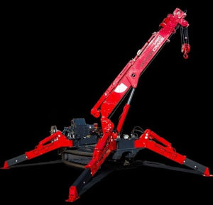 Overview of Unic Spyder Mini Crawler Crane 6800 lb