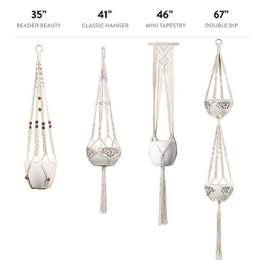 Handmade Macramé Hangers (Set of 4)