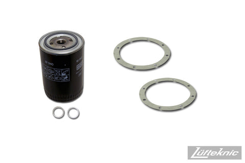 Engine oil filter kit w/ crush rings - Porsche 911, 914-6, 1965-1971