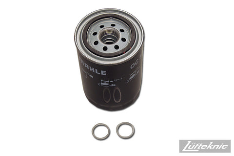 Engine oil filter kit w/ crush rings - Porsche 911, 930 Turbo & type 964 C2 / C4, 1984-1994