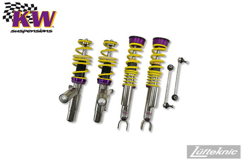 KW Variant 3 coilover suspension - Porsche 911 C4, C4S & Turbo Cabrio type 997 w/ PASM, 2006-2013