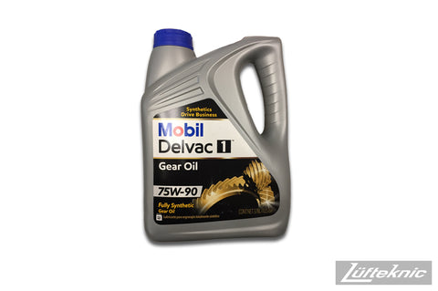 Gear oil - Mobil Delvac 1, 75W-90 (1 gallon)