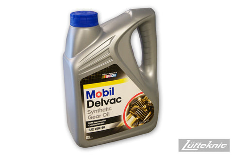 Gear oil - Mobil Delvac 75W-90 (1 gallon)
