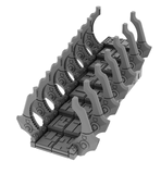 3D Printable STL Necron Stair Step Terrain Scenery