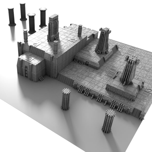 3D Printable STL Necron Tomb World Terrain Scenery Bundle