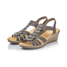 Load image into Gallery viewer, Rieker 62436 Wedge Heel Sandals