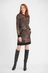 Joseph Ribkoff Hooded Sweater Dress