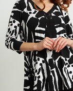 Load image into Gallery viewer, Joseph Ribkoff Animal Print Tunic