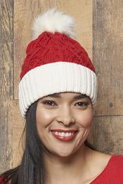 Parkhurst Cable Knit Santa Hat