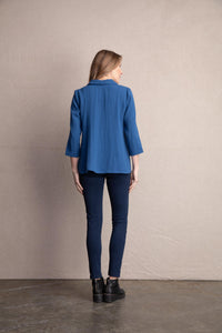 Habitat Mixed Button Top