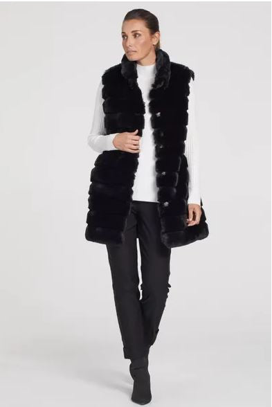 Tribal Removable Sleeve Fur Coat