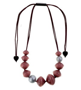 Zsiska Malai 11 Bead & Knot Necklace