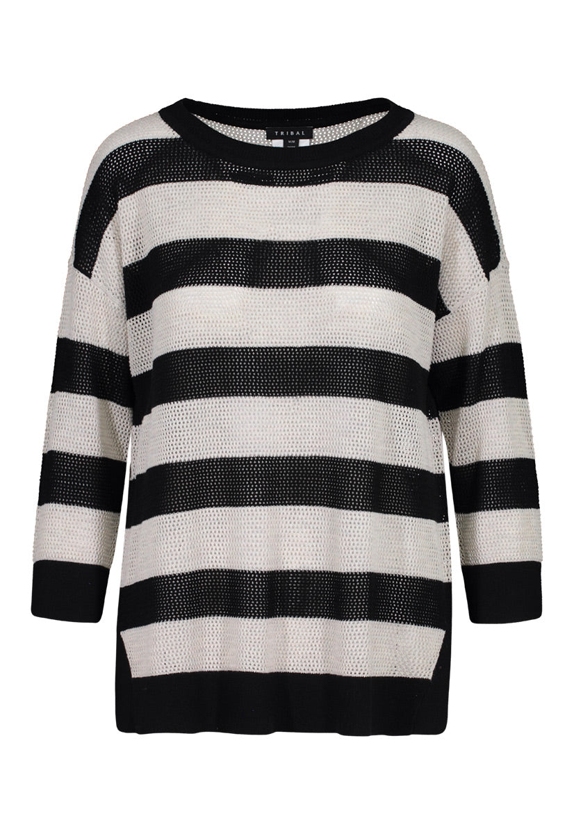 Tribal Striped Sweater