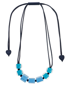 Zsiska Cube & Round Bead Adjustable Necklace