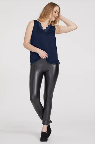 Tribal Flatten-It® Faux Leather Legging