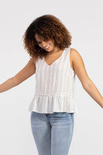 Load image into Gallery viewer, Tribal Striped Ruffle Hem Cami