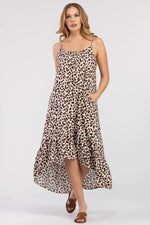 Load image into Gallery viewer, Tribal Leopard Print Maxi Dress