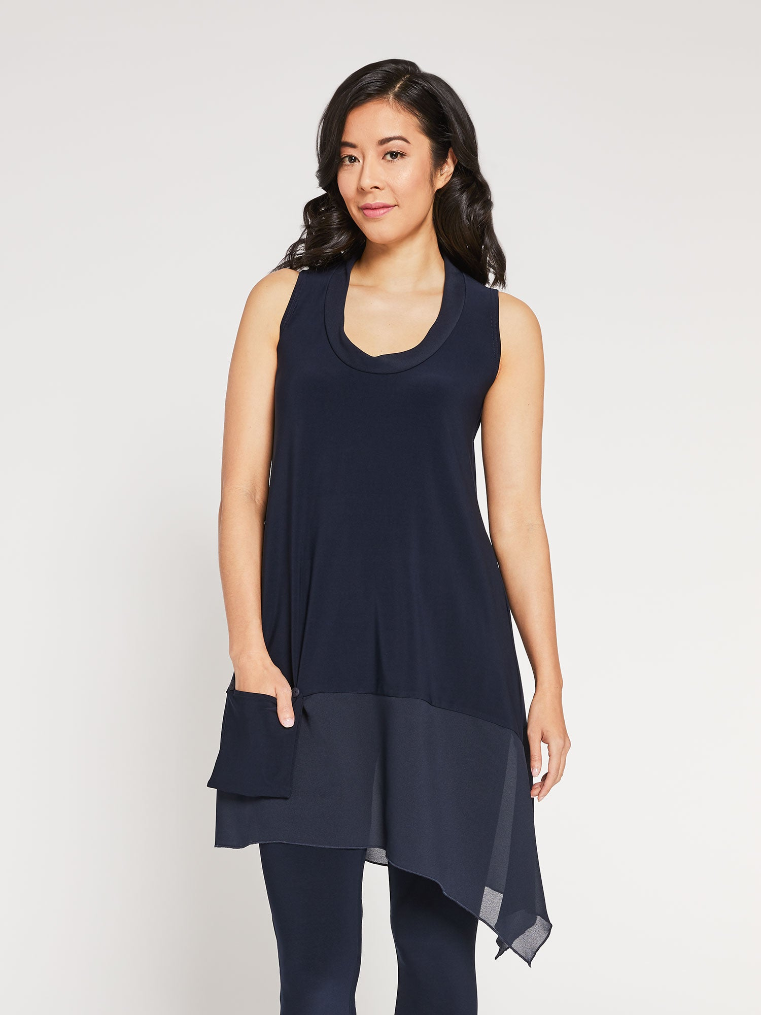 Sympli Sleeveless Whisper Pocket Tunic