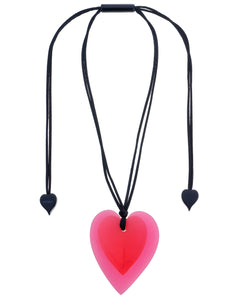 Zsiska Jelly 2 Hearts Layered Adjustable Pendent