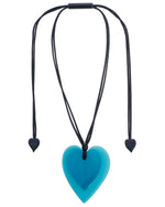 Load image into Gallery viewer, Zsiska Jelly 2 Hearts Layered Adjustable Pendent