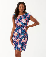 Load image into Gallery viewer, Tommy Bahama Flowers Of India T-Shirt Dress