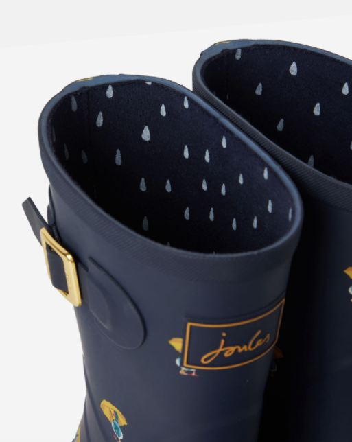 Joules Molly Mid Hight Printed Rain Boots