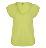 Load image into Gallery viewer, Esqualo Cap Sleeve V-Neck Tee