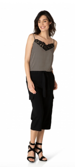 Load image into Gallery viewer, Yest Lace Detail Stripe Tank