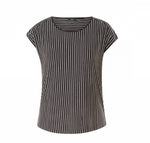 Load image into Gallery viewer, Yest Cap Sleeve Stripe T-shirt