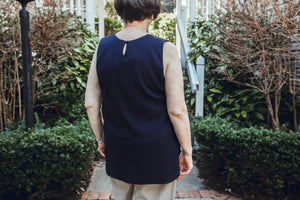 Permanent Collection: The Silky Tank, Navy