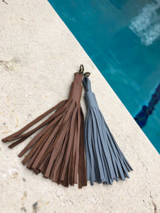 Leather Tassel with Hook