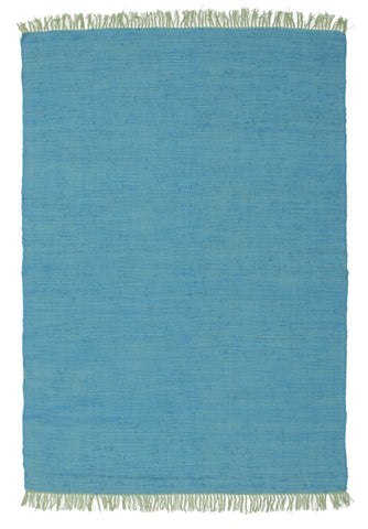 Mina Stunning Cotton Rug Blue