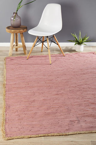 Atrium Reno Cotton and Jute Rug Pink
