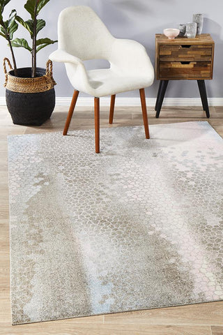 City Scale Modern Blue Rug