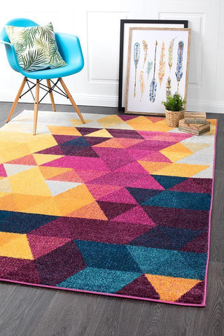 Dimensions Divinity Triangle Multi Modern Rug