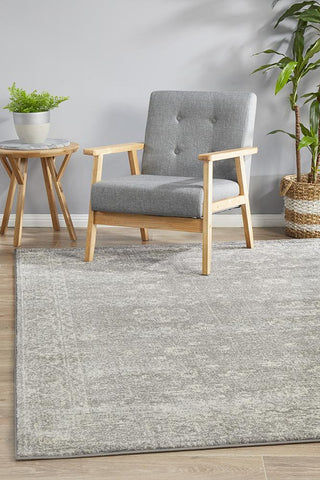 Evoke Pidgeon Grey Transitional Rug