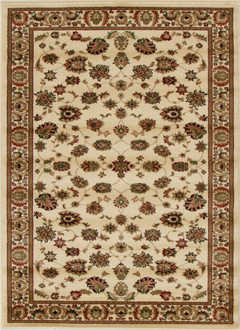 Traditional Floral Design Rug Ivory