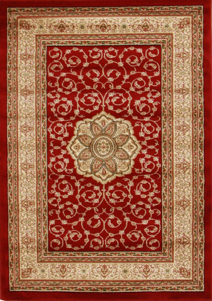 Medallion Classic Design Rug Red