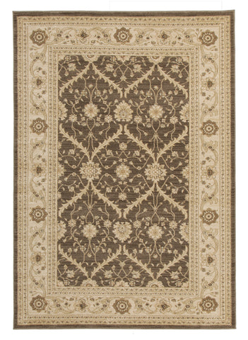 Chobi Design Rug Brown Bone