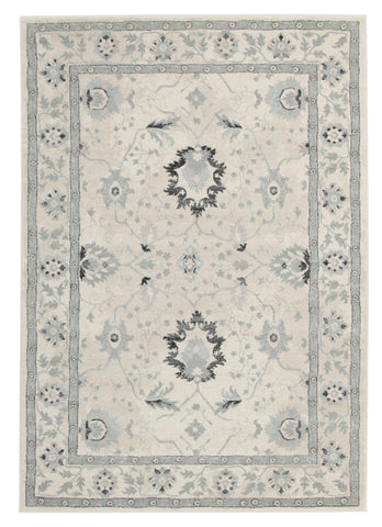 Nain Persian Design Rug Bone Blue Navy