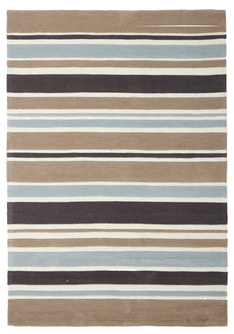 Taupe Coloured Stripes Children's Rug