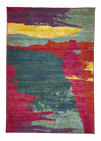 Stunning Brush Strokes Rug Multi