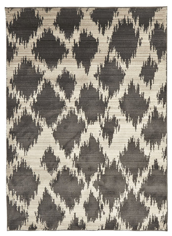 Moroccan Diamond Design Rug Charcoal